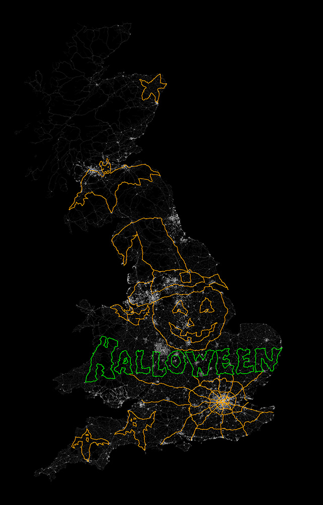 Halloween GPS Drawing