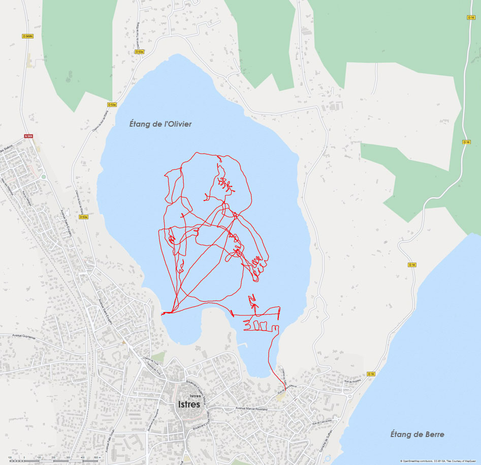 GPS Drawing on water