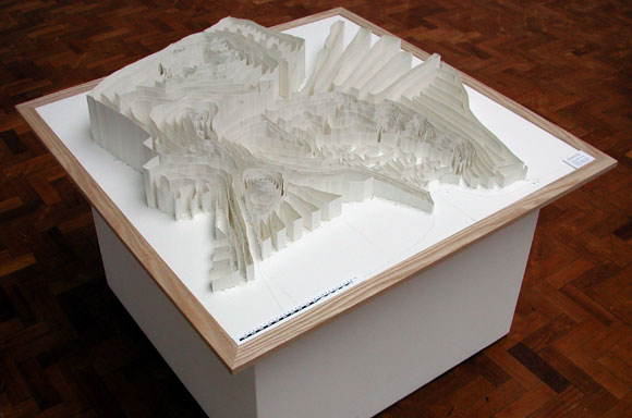 White Horse Hill Model, Frame measures 120cm x 120cm